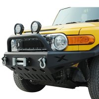 E-Autogrilles 57-0402 Fit for:07-14 Toyota FJ Cruiser Front Bumper with Pre Runner Hoop Grille Guard