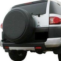 "2007-2009 Toyota FJ Cruiser - 32"" Rigid Tire Cover (Plastic Face & Vinyl Band) - Matte Black Texture"