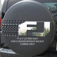 Polished Stainless Tire Cover F & J Letters Only w/o Cam fits: 2007-2013 Toyota FJ Cruiser - Ferreus Industries - OTH-102-10