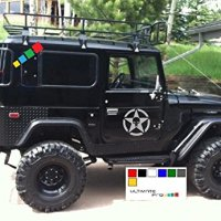 2x Stars Decal sticker kit compatible with Toyota Land Cruiser