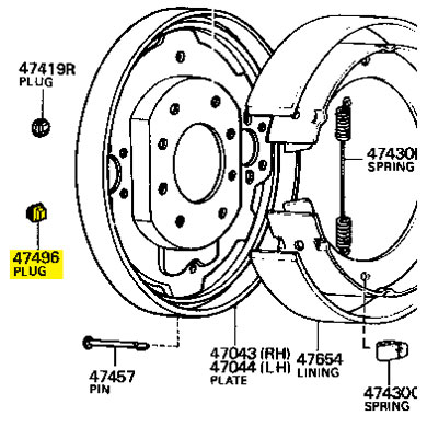 Oval Plug, Rear Back Plate, 75-78 FJ40 FJ45 FJ55 HJ45 BJ40