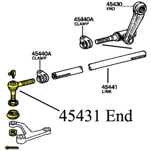OEM End, Drag Link, Front, 63-84 FJ40 45 BJ HJ