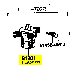 81980-20050 Flasher, Hazard Waring, 68-70 FJ40, FJ55