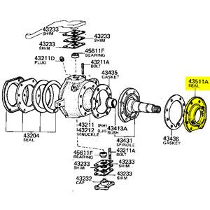 Retainer, Dust Seal 90313-93011, 76-92 FJ HJ BJ