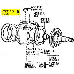 Plug, Steering Knuckle, 58-98 FJ HJ BJ FZJ HDJ HZJ