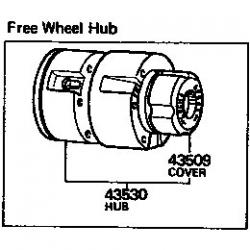43530-60901 Hub, Free Wheel Locking, FJ4# 55 BJ HJ45