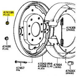 Round Plug, Back Plate, 58-80 FJ40 FJ45 FJ55 HJ45 BJ40
