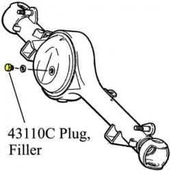 Plug, Filler, Front Axle Housing, 85-98 60 And 80 Series