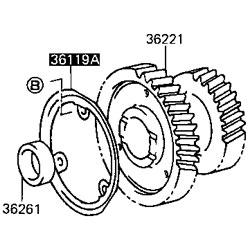 36119-60020-6 Oil Receiver, Idler Gear, FJ60 FJ62 BJ60 HJ60