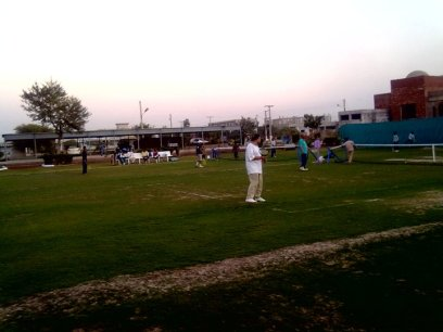 Wapda Town Phase-I Multan Residents playing bedminton