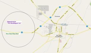 Map Muzaffargarh city and DG Khan Raod, Thermal Poer Station, Bypass, Multan Road