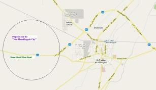 Map Muzaffargarh city and DG Khan Raod, Thermal Poer Station, Bypass, Multan Road