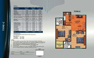 Al Wasay Towers Karachi (Layout Plan Flat Type-C & Payment Plan)