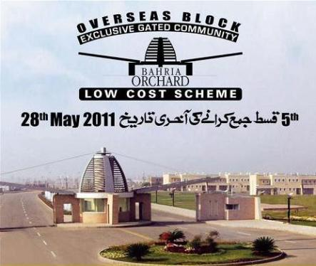 Bahria Town Orchard - Overseas Block - Plots for sale