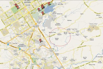 Location Plan of Park Enclave Housing Islamabad
