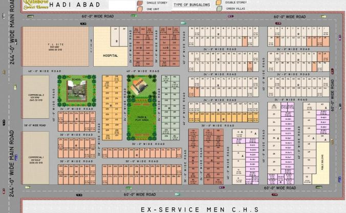 Rainbow Sweet Homes - Detail Layour or Drawing Map - Booking Plan