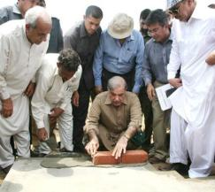Shahbaz Lay foudation stone of Mosque in Ashiana housing