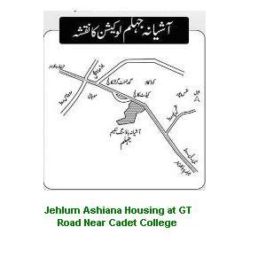 Location Map Jehlum Ashiana Housing Scheme