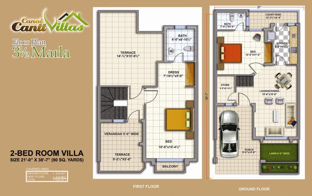 Cantt Villas Multan – Layout Plan & Floor Plans (Drawings) – fjtown
