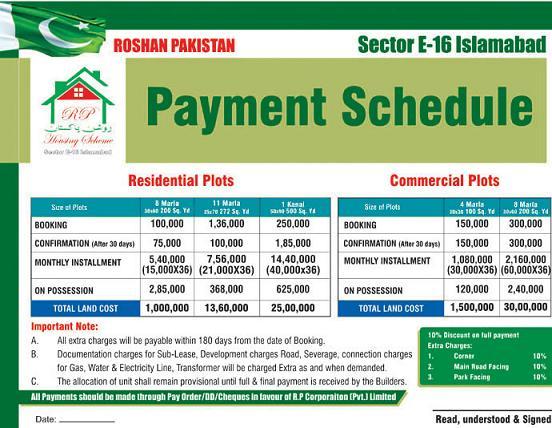 Roshan Pakistan Housing Islamabad – Payment Plan – Page 552