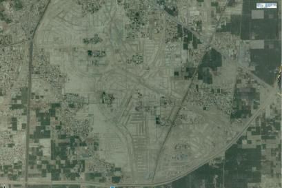 Satellite View Jatima Jinnah Town Multan - Detail with Blocks (without Labels)
