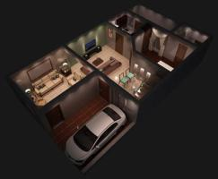 alrahim homes lahore 3d view 5 marla home