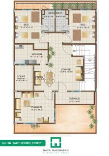 Bungalow 160 sq yards Double Story First Floor