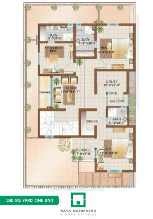 Bungalow 240 sq yards One Unit First Floor