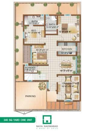 Bungalow 240 sq yards One Unit Ground Floor