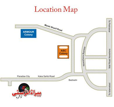 Paradise City Noshera - Location Plan or Map