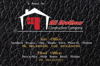 Pace City Multan - Contact Numbers (Ali Brothers Construction Company)
