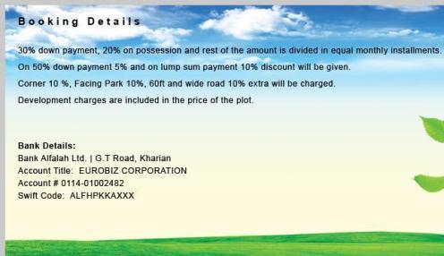 Euro City Kharian Booking Details