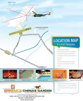 Chenab Garden Sialkot Location Map