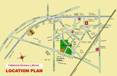 Valancia Homes / Town Lahore - Location Plan map