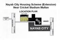 Nayab City Extension Multan - Location Map