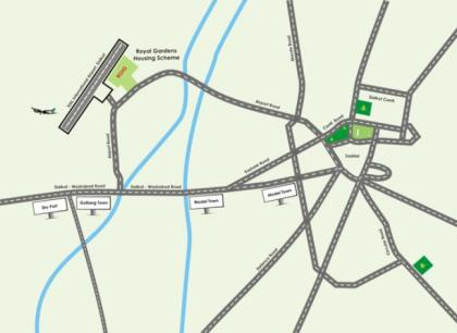 Royal Gardens Sialkot Location Map