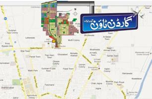 Garden Town Gujranwala Location Map