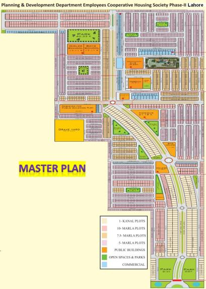 P and D Fort Housing Scheme Canal Road Lahore - Master Plan
