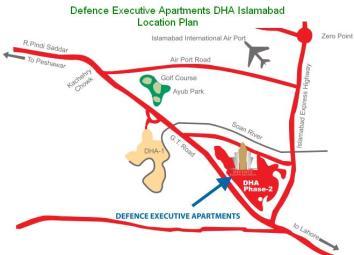 Defence Executive Apartments DHA Islamabad - Location Map