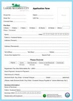 Lahore Motorway City - Application Form