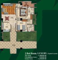 2 bed Room layout plan - Jalal complex Abbottabad