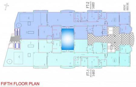 Balcony 99 Apartments DHA Lahore - Fifth Floor Plan
