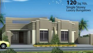Saima Home Karachi - 120 sq yard single storey bungalow