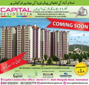 Capital Residencia Sector E-11 Islamabad