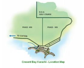 Crescent Bay Karachi - Location Map