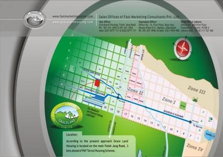 Location Map Graceland housing Islamabad