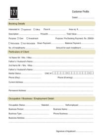 T27 Lahore - Application Form for Booking