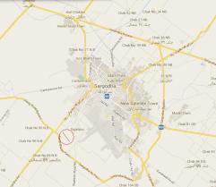 Eden Life Sargodha Location Plan on By-Pass Road
