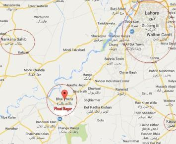 Bhai Pheru Location Map