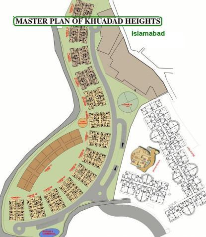 Master Plan of Khudadad Heights Apartments Islamabad